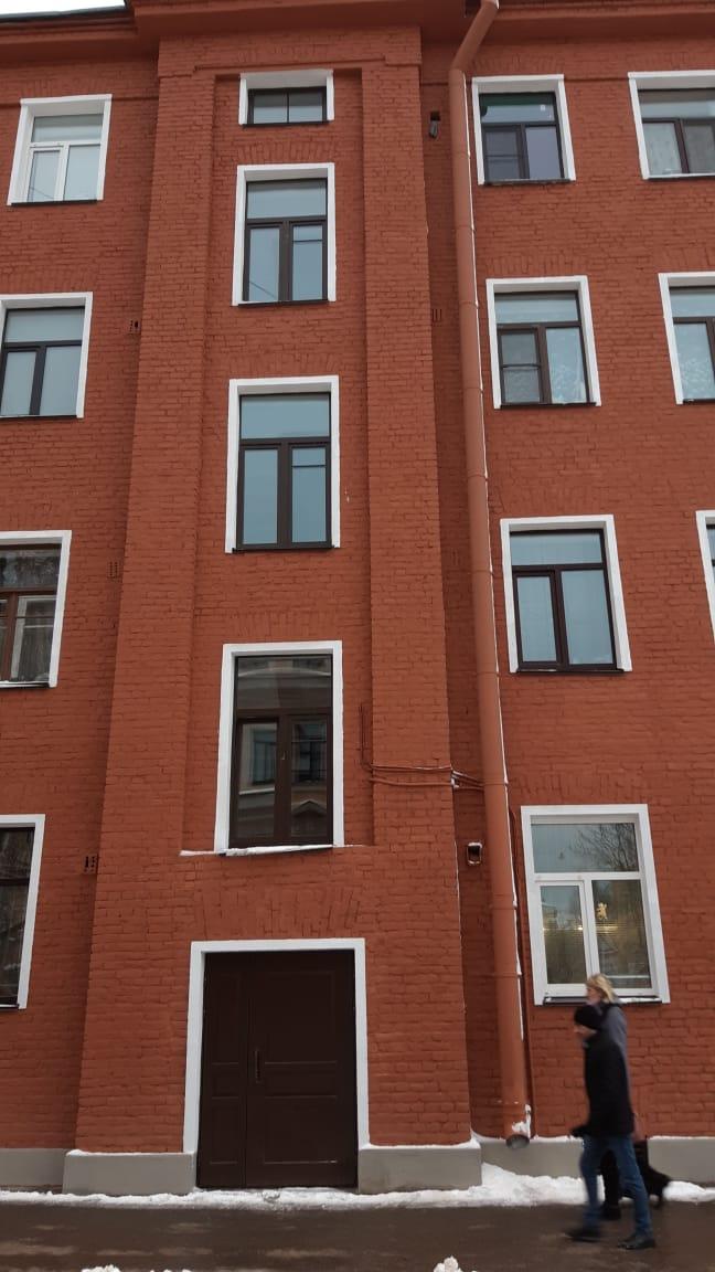 Заменены окна ПВХ в МКД при ремонте фасада